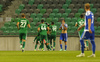 Players of NK Olimpija celebrate their goal for 2-0 during third round qualifiers match for Europa League between NK Olympija and HJK Helsinki. Third round qualifiers match for Europa League between NK Olympija and HJK Helsinki was played on Thursday, 9th of August 2018 in Stozice arena in Ljubljana, Slovenia