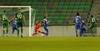 Abass Issah of Olimpija Ljubljana scoring for 3-0 during third round qualifiers match for Europa League between NK Olympija and HJK Helsinki. Third round qualifiers match for Europa League between NK Olympija and HJK Helsinki was played on Thursday, 9th of August 2018 in Stozice arena in Ljubljana, Slovenia