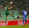 Aris Zarifovic of Olimpija Ljubljana during third round qualifiers match for Europa League between NK Olympija and HJK Helsinki. Third round qualifiers match for Europa League between NK Olympija and HJK Helsinki was played on Thursday, 9th of August 2018 in Stozice arena in Ljubljana, Slovenia