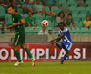 Anthony Annan of HJK Helsinki during third round qualifiers match for Europa League between NK Olympija and HJK Helsinki. Third round qualifiers match for Europa League between NK Olympija and HJK Helsinki was played on Thursday, 9th of August 2018 in Stozice arena in Ljubljana, Slovenia