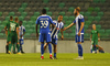 Players of HJK Helsinki after third round qualifiers match for Europa League between NK Olympija and HJK Helsinki. Third round qualifiers match for Europa League between NK Olympija and HJK Helsinki was played on Thursday, 9th of August 2018 in Stozice arena in Ljubljana, Slovenia