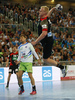 Marko Bezjak of Slovenia (L) and Patrick Wiencek of Germany (R) during EHF European championships qualifications match between Slovenia and Germany. EHF European championships qualifications match between Slovenia and Germany was played on Wednesday, 3rd of May 2017 in Stozice arena in Ljubljana, Slovenia.