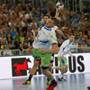 Blaz Blagotinsek of Slovenia during EHF European championships qualifications match between Slovenia and Germany. EHF European championships qualifications match between Slovenia and Germany was played on Wednesday, 3rd of May 2017 in Stozice arena in Ljubljana, Slovenia.