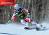 Eva-Maria Brem of Austria in action during 1st run of ladies Giant Slalom of FIS Ski Alpine Worldcup at the Aspen Mountain Course in Aspen, United States on 2014/11/29.