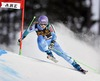 1st placed Tina Maze of Slovenia in action during 1st run of the women Giant Slalom of FIS Ski World Cup at Olympia Course in Are, Sweden on 2014/12/12.
