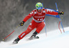 Winner Dominik Paris of Italy skiing in the men super-g race of Audi FIS Alpine skiing World cup in Kitzbuehel, Austria. Men super-g race of Audi FIS Alpine skiing World cup season 2014-2015, was held on Friday, 23rd of January 2015 on Hahnenkamm course in Kitzbuehel, Austria