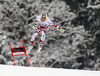Winner Hannes Reichelt of Austria skiing during the men downhill race of Audi FIS Alpine skiing World cup in Garmisch-Partenkirchen, Germany. Men downhill race of Audi FIS Alpine skiing World cup season 2014-2015, was held on Saturday, 28th of February 2015 in Garmisch-Partenkirchen, Germany.