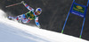 Alexis Pinturault of France skiing in first run of men giant slalom race of Audi FIS Alpine skiing World cup in Kranjska Gora, Slovenia. Men giant slalom race of Audi FIS Alpine skiing World cup season 2014-2015, was held on Saturday, 14th of March 2015 in Kranjska Gora, Slovenia.