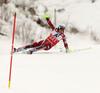 Henrik Kristoffersen of Norway skiing in first run of the men slalom race of Audi FIS Alpine skiing World cup in Kitzbuehel, Austria. Men downhill race of Audi FIS Alpine skiing World cup was held in Kitzbuehel, Austria, on Sunday, 24th of January 2016.