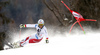 Gino Caviezel of Switzerland skiing in the first run of the men giant slalom race of Audi FIS Alpine skiing World cup in Hinterstoder, Austria. Men giant slalom race of Audi FIS Alpine skiing World cup, was held on Hinterstoder, Austria, on Friday, 26th of February 2016.