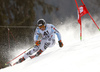 Benedikt Staubitzer of Germany skiing in the first run of the men giant slalom race of Audi FIS Alpine skiing World cup in Hinterstoder, Austria. Men giant slalom race of Audi FIS Alpine skiing World cup, was held on Hinterstoder, Austria, on Friday, 26th of February 2016.