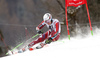 Henrik Kristoffersen of Norway skiing in the first run of the men giant slalom race of Audi FIS Alpine skiing World cup in Hinterstoder, Austria. Men giant slalom race of Audi FIS Alpine skiing World cup, was held on Hinterstoder, Austria, on Friday, 26th of February 2016.
