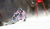 Mathieu Faivre of France skiing in the first run of the men giant slalom race of Audi FIS Alpine skiing World cup in Hinterstoder, Austria. Men giant slalom race of Audi FIS Alpine skiing World cup, was held on Hinterstoder, Austria, on Friday, 26th of February 2016.