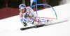 Alexis Pinturault of France skiing in the first run of the men giant slalom race of Audi FIS Alpine skiing World cup in Hinterstoder, Austria. Men giant slalom race of Audi FIS Alpine skiing World cup, was held on Hinterstoder, Austria, on Friday, 26th of February 2016.