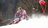 Marcel Hirscher of Austria skiing in the first run of the men giant slalom race of Audi FIS Alpine skiing World cup in Hinterstoder, Austria. Men giant slalom race of Audi FIS Alpine skiing World cup, was held on Hinterstoder, Austria, on Friday, 26th of February 2016.