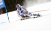 Fritz Dopfer of Germany skiing in the first run of the men giant slalom race of Audi FIS Alpine skiing World cup in Hinterstoder, Austria. Men giant slalom race of Audi FIS Alpine skiing World cup, was held on Hinterstoder, Austria, on Friday, 26th of February 2016.