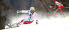 Gino Caviezel of Switzerland crashing in the first run of the men giant slalom race of Audi FIS Alpine skiing World cup in Hinterstoder, Austria. Men giant slalom race of Audi FIS Alpine skiing World cup, was held on Hinterstoder, Austria, on Friday, 26th of February 2016.