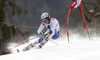 Loic Meillard of Switzerland skiing in the first run of the men giant slalom race of Audi FIS Alpine skiing World cup in Hinterstoder, Austria. Men giant slalom race of Audi FIS Alpine skiing World cup, was held on Hinterstoder, Austria, on Friday, 26th of February 2016.