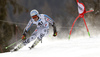 Dominik Schwaiger of Germany skiing in the first run of the men giant slalom race of Audi FIS Alpine skiing World cup in Hinterstoder, Austria. Men giant slalom race of Audi FIS Alpine skiing World cup, was held on Hinterstoder, Austria, on Friday, 26th of February 2016.