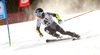 Eemeli Pirinen of Finland skiing in the first run of the men giant slalom race of Audi FIS Alpine skiing World cup in Hinterstoder, Austria. Men giant slalom race of Audi FIS Alpine skiing World cup, was held on Hinterstoder, Austria, on Friday, 26th of February 2016.