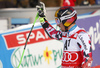 Second placed Marcel Hirscher of Austria reacts in the finish of the second run of the men giant slalom race of Audi FIS Alpine skiing World cup in Hinterstoder, Austria. Men giant slalom race of Audi FIS Alpine skiing World cup, was held on Hinterstoder, Austria, on Friday, 26th of February 2016.
