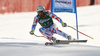 Sixth placed Adrien Theaux of France skiing in the men super-g race of Audi FIS Alpine skiing World cup in Hinterstoder, Austria. Men super-g race of Audi FIS Alpine skiing World cup, was held on Hinterstoder, Austria, on Saturday, 27th of February 2016.