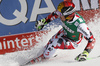 Third placed Marcel Hirscher of Austria reacts in the finish of the men super-g race of Audi FIS Alpine skiing World cup in Hinterstoder, Austria. Men super-g race of Audi FIS Alpine skiing World cup, was held on Hinterstoder, Austria, on Saturday, 27th of February 2016.