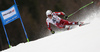 Henrik Kristoffersen of Norway skiing in the first run of the men giant slalom race of Audi FIS Alpine skiing World cup in Hinterstoder, Austria. Men giant slalom race of Audi FIS Alpine skiing World cup, was held in Hinterstoder, Austria, on Sunday, 28th of February 2016.