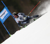 Marcus Sandell of Finland skiing in the first run of the men giant slalom race of Audi FIS Alpine skiing World cup in Hinterstoder, Austria. Men giant slalom race of Audi FIS Alpine skiing World cup, was held in Hinterstoder, Austria, on Sunday, 28th of February 2016.