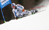 Fritz Dopfer of Germany skiing in the first run of the men giant slalom race of Audi FIS Alpine skiing World cup in Hinterstoder, Austria. Men giant slalom race of Audi FIS Alpine skiing World cup, was held in Hinterstoder, Austria, on Sunday, 28th of February 2016.