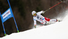 Gino Caviezel of Switzerland skiing in the first run of the men giant slalom race of Audi FIS Alpine skiing World cup in Hinterstoder, Austria. Men giant slalom race of Audi FIS Alpine skiing World cup, was held in Hinterstoder, Austria, on Sunday, 28th of February 2016.