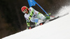 Zan Kranjec of Slovenia skiing in the first run of the men giant slalom race of Audi FIS Alpine skiing World cup in Hinterstoder, Austria. Men giant slalom race of Audi FIS Alpine skiing World cup, was held in Hinterstoder, Austria, on Sunday, 28th of February 2016.