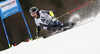 Eemeli Pirinen of Finland skiing in the first run of the men giant slalom race of Audi FIS Alpine skiing World cup in Hinterstoder, Austria. Men giant slalom race of Audi FIS Alpine skiing World cup, was held in Hinterstoder, Austria, on Sunday, 28th of February 2016.