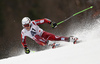 Henrik Kristoffersen of Norway skiing in the men giant slalom race of Audi FIS Alpine skiing World cup in Hinterstoder, Austria. Men giant slalom race of Audi FIS Alpine skiing World cup, was held in Hinterstoder, Austria, on Sunday, 28th of February 2016.