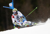Justin Murisier of Switzerland skiing in the men giant slalom race of Audi FIS Alpine skiing World cup in Hinterstoder, Austria. Men giant slalom race of Audi FIS Alpine skiing World cup, was held in Hinterstoder, Austria, on Sunday, 28th of February 2016.