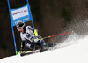 Eemeli Pirinen of Finland skiing in the men giant slalom race of Audi FIS Alpine skiing World cup in Hinterstoder, Austria. Men giant slalom race of Audi FIS Alpine skiing World cup, was held in Hinterstoder, Austria, on Sunday, 28th of February 2016.