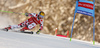 Marcel Hirscher of Austria skiing in the first run of the men giant slalom race of Audi FIS Alpine skiing World cup in Kranjska Gora, Slovenia. Men giant slalom race of Audi FIS Alpine skiing World cup, was held in Kranjska Gora, Slovenia, on Friday, 4th of March 2016.
