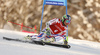 Mathieu Faivre of France skiing in the first run of the men giant slalom race of Audi FIS Alpine skiing World cup in Kranjska Gora, Slovenia. Men giant slalom race of Audi FIS Alpine skiing World cup, was held in Kranjska Gora, Slovenia, on Friday, 4th of March 2016.