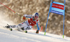 Fritz Dopfer of Germany skiing in the first run of the men giant slalom race of Audi FIS Alpine skiing World cup in Kranjska Gora, Slovenia. Men giant slalom race of Audi FIS Alpine skiing World cup, was held in Kranjska Gora, Slovenia, on Friday, 4th of March 2016.