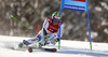 Justin Murisier of Switzerland skiing in the first run of the men giant slalom race of Audi FIS Alpine skiing World cup in Kranjska Gora, Slovenia. Men giant slalom race of Audi FIS Alpine skiing World cup, was held in Kranjska Gora, Slovenia, on Friday, 4th of March 2016.