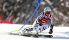Dominik Schwaiger of Germany skiing in the first run of the men giant slalom race of Audi FIS Alpine skiing World cup in Kranjska Gora, Slovenia. Men giant slalom race of Audi FIS Alpine skiing World cup, was held in Kranjska Gora, Slovenia, on Friday, 4th of March 2016.