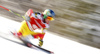 Trevor Philp of Canada skiing in the first run of the men giant slalom race of Audi FIS Alpine skiing World cup in Kranjska Gora, Slovenia. Men giant slalom race of Audi FIS Alpine skiing World cup, was held in Kranjska Gora, Slovenia, on Friday, 4th of March 2016.