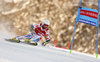 Thomas Fanara of France skiing in the first run of the men giant slalom race of Audi FIS Alpine skiing World cup in Kranjska Gora, Slovenia. Men giant slalom race of Audi FIS Alpine skiing World cup, was held in Kranjska Gora, Slovenia, on Friday, 4th of March 2016.