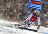 Carlo Janka of Switzerland skiing in the first run of the men giant slalom race of Audi FIS Alpine skiing World cup in Kranjska Gora, Slovenia. Men giant slalom race of Audi FIS Alpine skiing World cup, was held in Kranjska Gora, Slovenia, on Friday, 4th of March 2016.