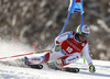 Gino Caviezel of Switzerland skiing in the first run of the men giant slalom race of Audi FIS Alpine skiing World cup in Kranjska Gora, Slovenia. Men giant slalom race of Audi FIS Alpine skiing World cup, was held in Kranjska Gora, Slovenia, on Friday, 4th of March 2016.