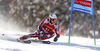 Aleksander Aamodt Kilde of Norway skiing in the first run of the men giant slalom race of Audi FIS Alpine skiing World cup in Kranjska Gora, Slovenia. Men giant slalom race of Audi FIS Alpine skiing World cup, was held in Kranjska Gora, Slovenia, on Friday, 4th of March 2016.