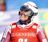 Aleksander Aamodt Kilde of Norway reacts in finish of the second run of the men giant slalom race of Audi FIS Alpine skiing World cup in Kranjska Gora, Slovenia. Men giant slalom race of Audi FIS Alpine skiing World cup, was held in Kranjska Gora, Slovenia, on Friday, 4th of March 2016.