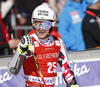 Manuel Feller of Austria reacts in finish of the second run of the men giant slalom race of Audi FIS Alpine skiing World cup in Kranjska Gora, Slovenia. Men giant slalom race of Audi FIS Alpine skiing World cup, was held in Kranjska Gora, Slovenia, on Friday, 4th of March 2016.