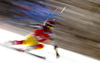 Phil Brown of Canada skiing in the first run of the men giant slalom race of Audi FIS Alpine skiing World cup in Kranjska Gora, Slovenia. Men giant slalom race of Audi FIS Alpine skiing World cup, was held in Kranjska Gora, Slovenia, on Friday, 4th of March 2016.
