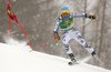 Felix Neureuther of Germany skiing in the first run of the men giant slalom race of Audi FIS Alpine skiing World cup in Kranjska Gora, Slovenia. Men giant slalom race of Audi FIS Alpine skiing World cup, was held in Kranjska Gora, Slovenia, on Saturday, 5th of March 2016.